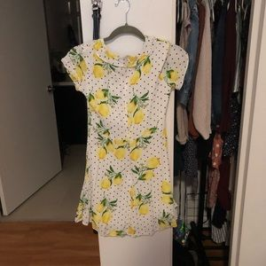 Dresses - Lemon print wrap dress